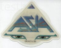 "Asia ‎– Don't Cry   Vinyl, 7"", 45 RPM, Shape, Picture Disc"