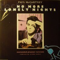 "Paul McCartney ‎– No More Lonely Nights (Extended Playout Version), Vinyl, 12"", 45 RPM"