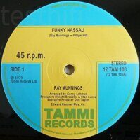 "Ray Munnings ‎– Funky Nassau / Jump In The Water, Vinyl, 12"", Unofficial Release, 45 RPM"